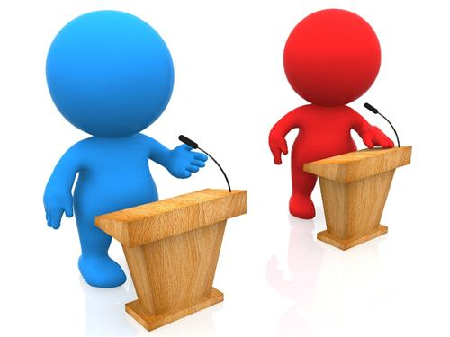Clubs debate . Podium clipart speech team
