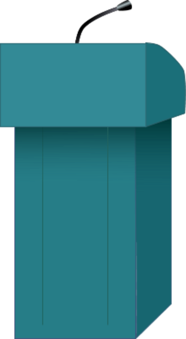 Png speaker at images. Podium clipart transparent background