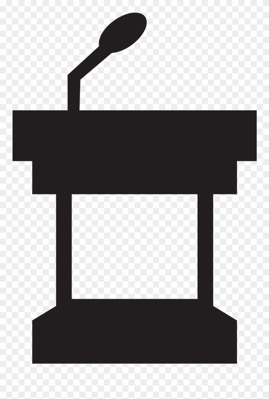 Request a presentation . Podium clipart transparent background