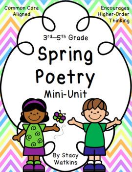 Poem clipart 3rd grade. Spring poetry mini unit