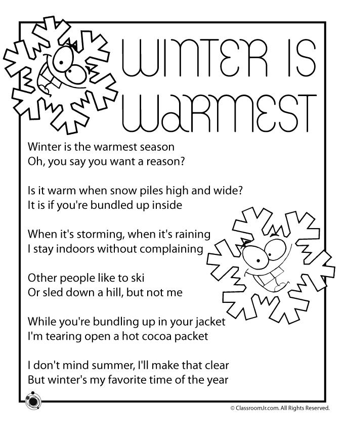 Winter kids poems for. Poem clipart 3rd grade