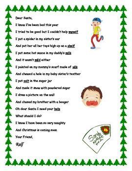 Poem clipart 3rd grade. Christmas final l consonant