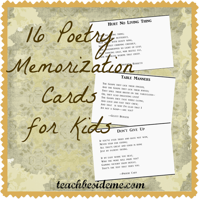 Poetry memorization cards for. Poem clipart assonance