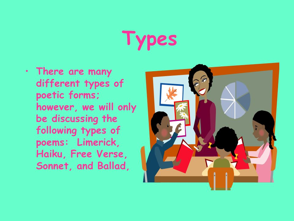 Types there are many. Poetry clipart ballad