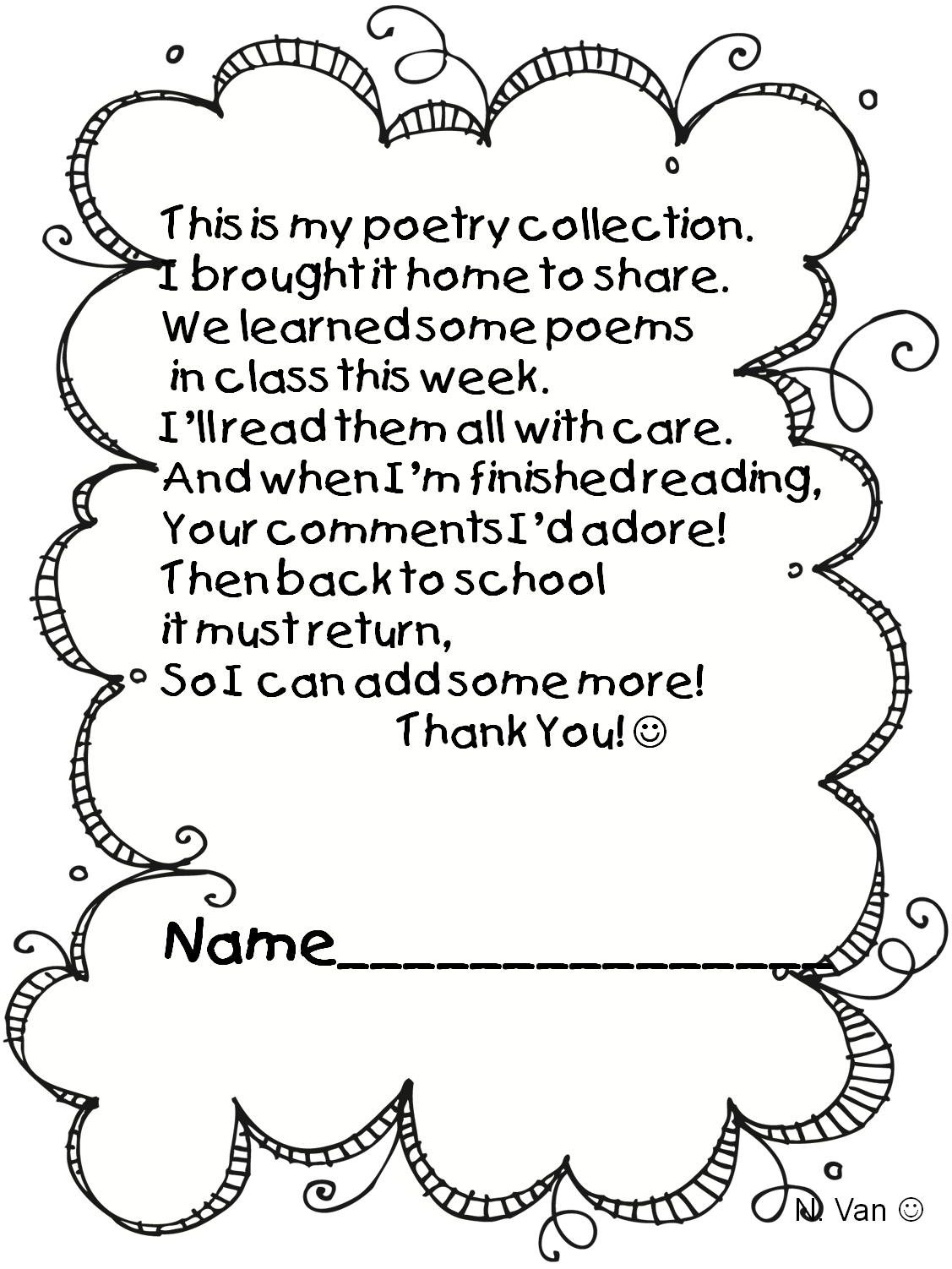 Poetry clipart bubble letter. Notebook more