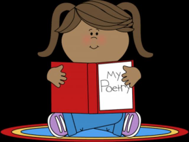 Poetry clipart appendix. Poem child reading kids