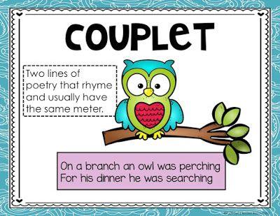 ideas to teach. Poem clipart couplet