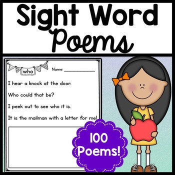 Sight word poems the. Poem clipart fill in blank