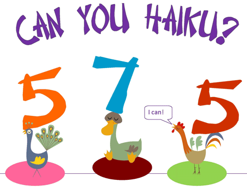 Can you district of. Poem clipart haiku