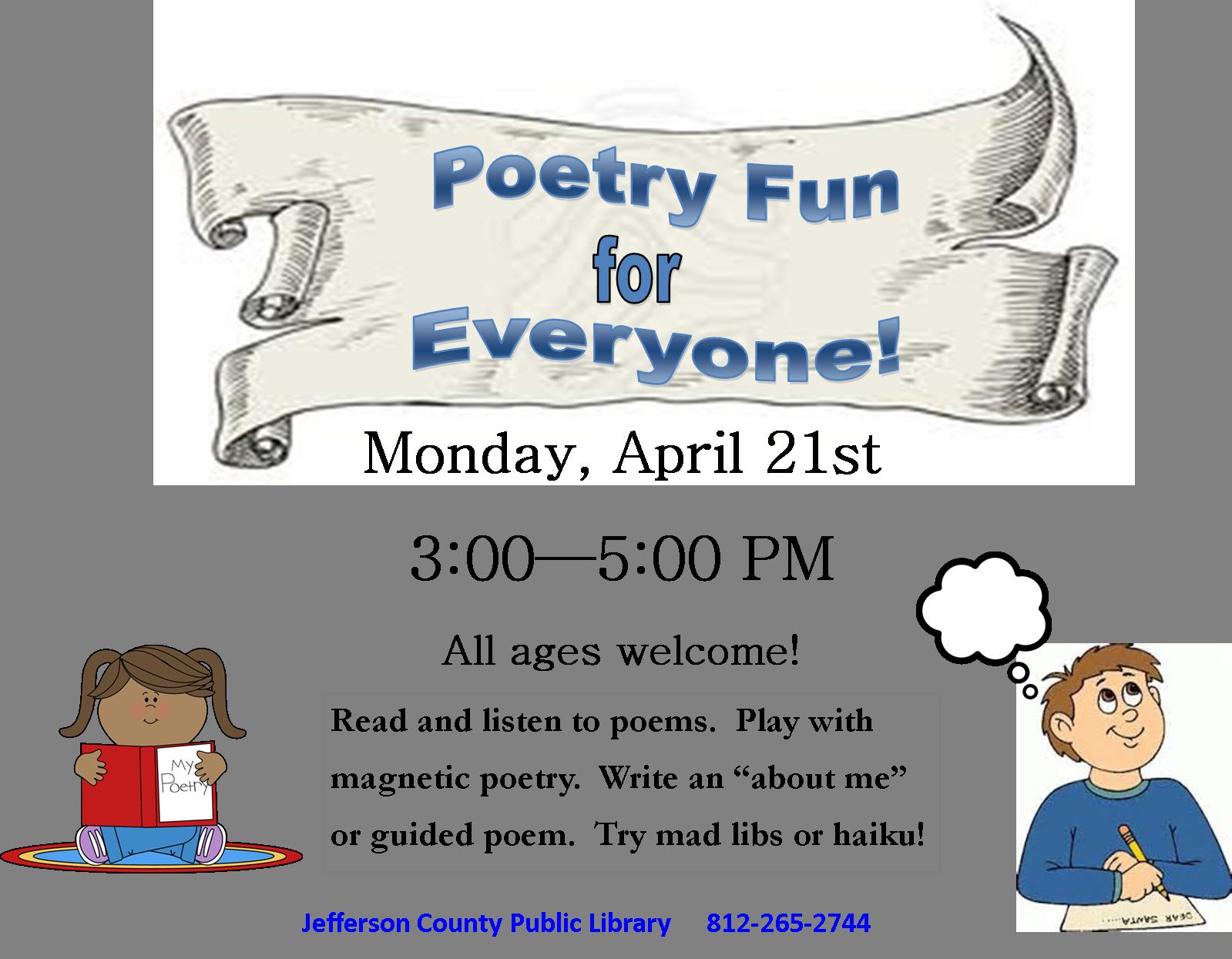 Poetry fun for everyone. Poem clipart haiku