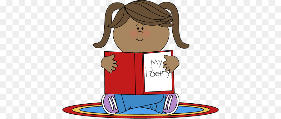 Reading cartoon product line. Poetry clipart illustration