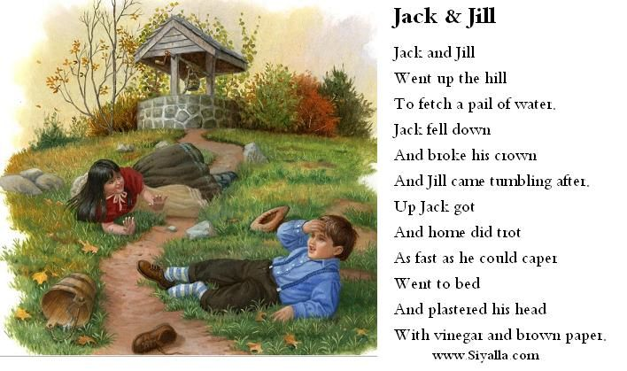 Poem Clipart Jack And Jill