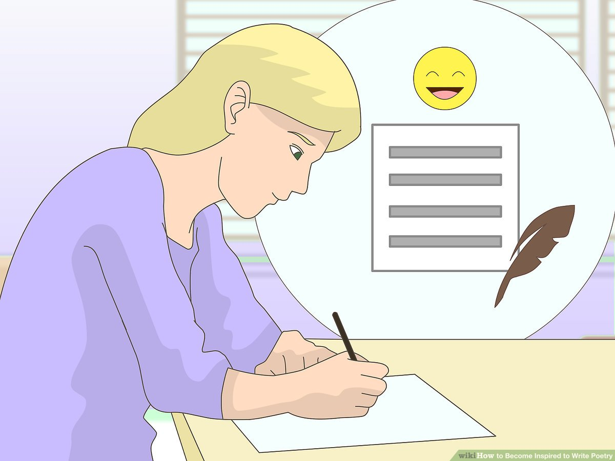 How to become inspired. Poem clipart journal article