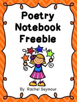 Freebie curriculum kindergarten . Poetry clipart poetry notebook