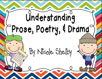 Poetry clipart prose. Understanding and drama activities