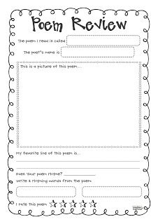 Poem clipart review.  best th grade