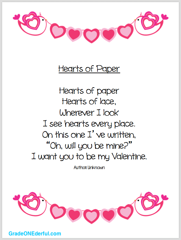 Poem clipart review. Valentine and freebies grade