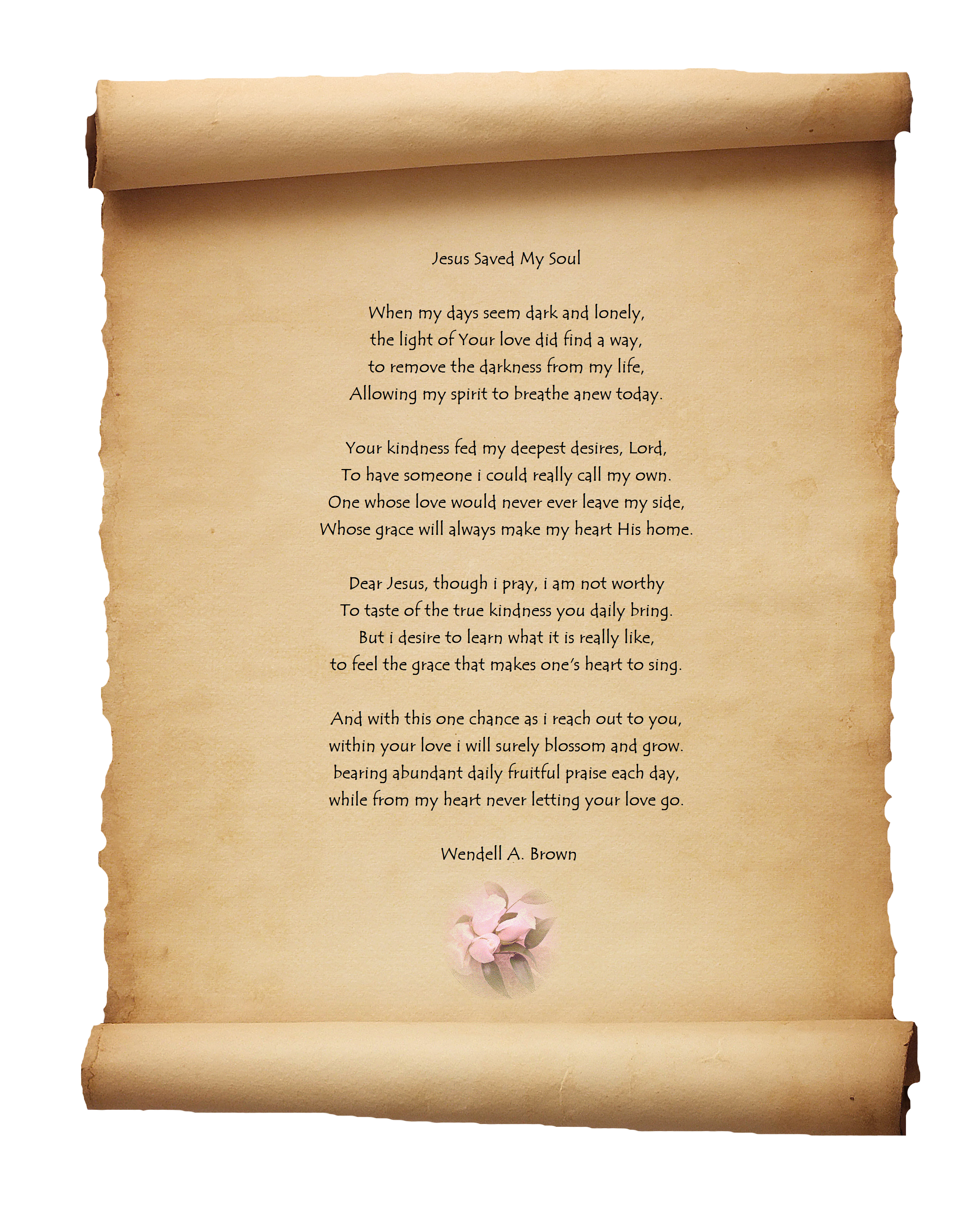 A gift from wendell. Poetry clipart haiku