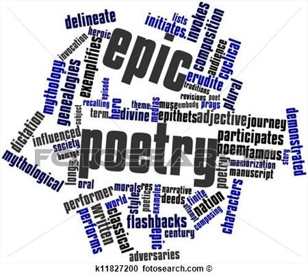 Poem clipart word cloud. For epic poetry panda