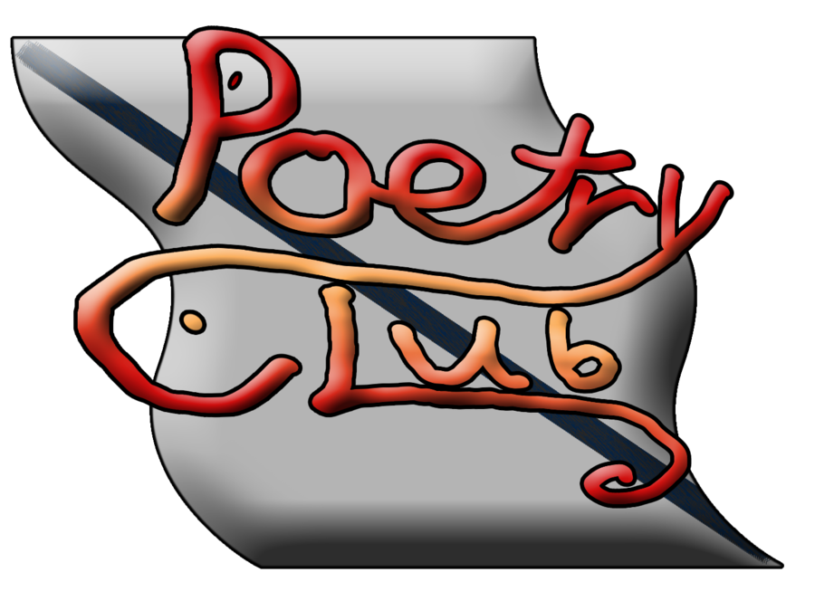 Poem clipart writing club. Poetry logo by miss