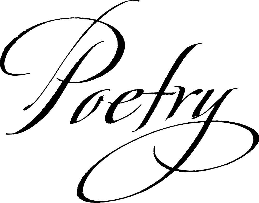 Poetry clipart cursive. Know your meme