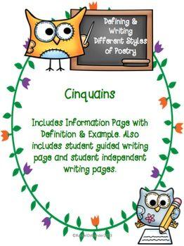 Poetry clipart description. Cinquain poems defining writing