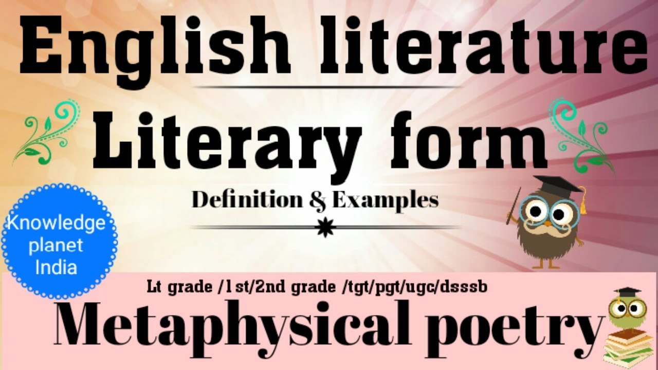Metaphysical defination and examples. Poetry clipart english literature