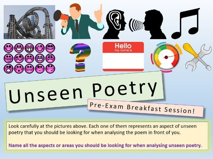 Unseen lessons secondary . Poetry clipart english literature