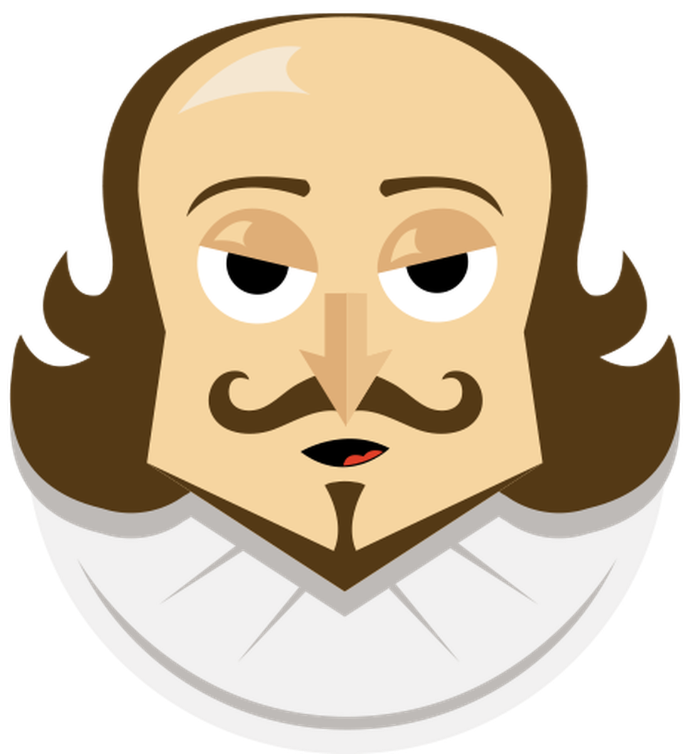 To tweet or not. Poetry clipart plays shakespeare