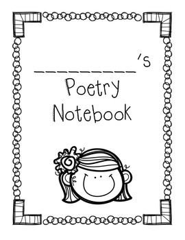 Poetry clipart poetry notebook.