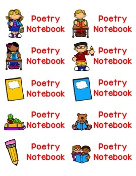 Labels . Poetry clipart poetry notebook