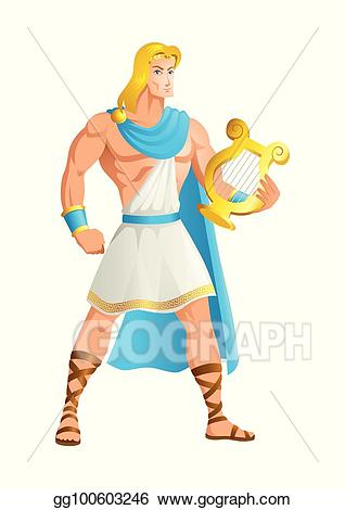 Poetry clipart truth. Vector apollo the god