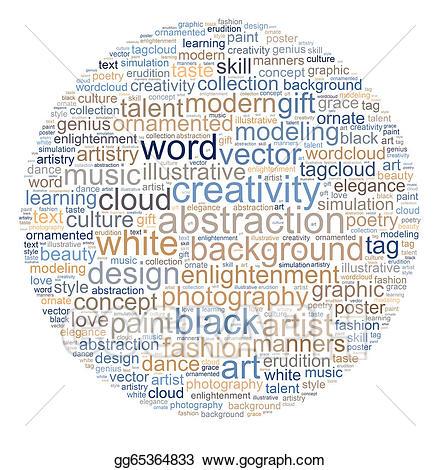 Poetry clipart word cloud. Clip art creativity stock