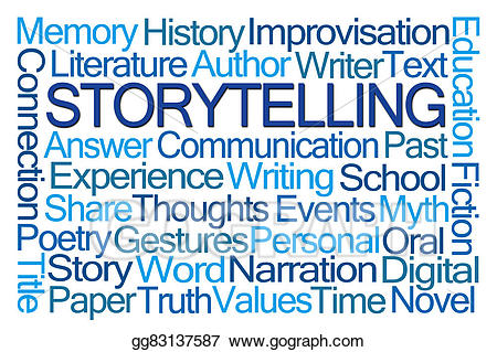 Stock illustration storytelling . Poetry clipart word cloud