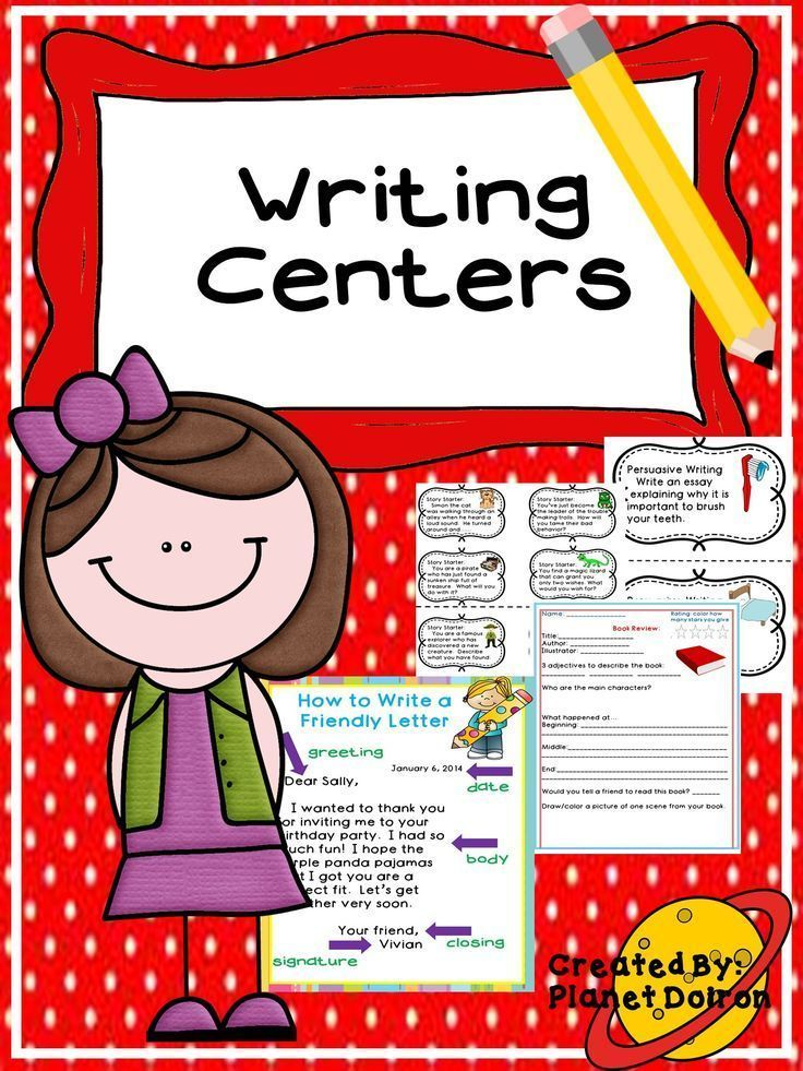 Centers postcards prompts choice. Poetry clipart writing center