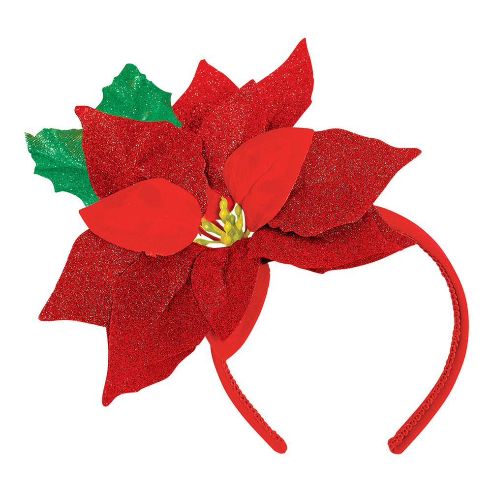 Poinsettia clipart accent. Amscan in x christmas