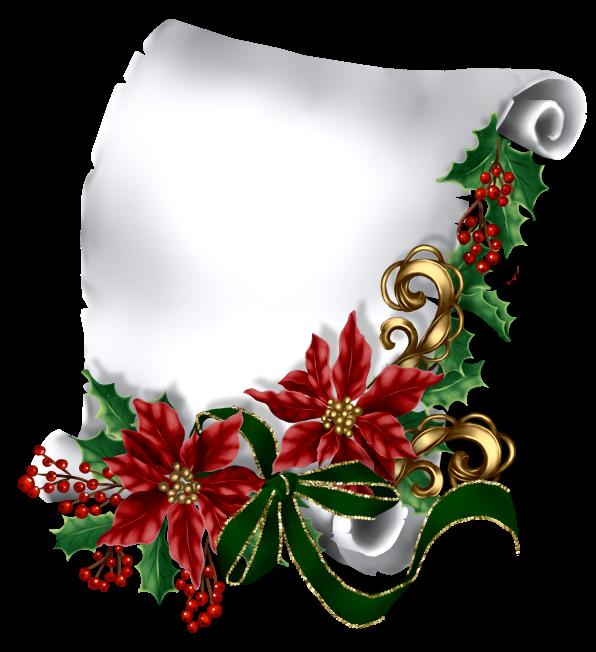 Poinsettias clipart vintage christmas candle. Etiquettes pancartes tubes scrap