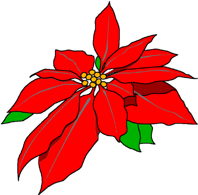 Poinsettias clipart animated. Free pictures of download