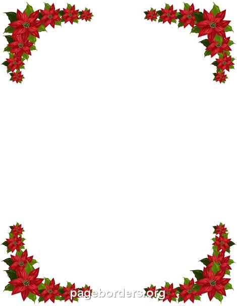 Poinsettia clipart banner. Free winter borders clip