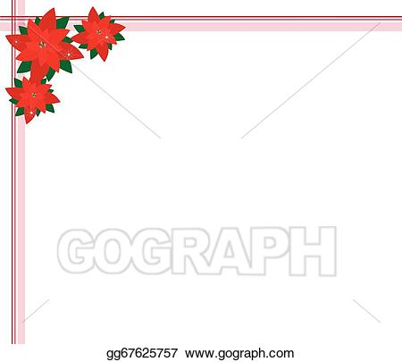 Poinsettia clipart beautiful. Vector illustration flowers forming