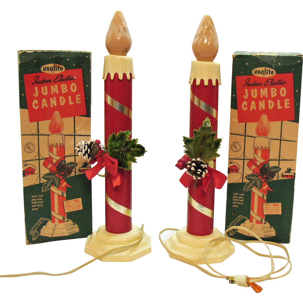 Poinsettias clipart candlestick. Vintage christmas large indoor
