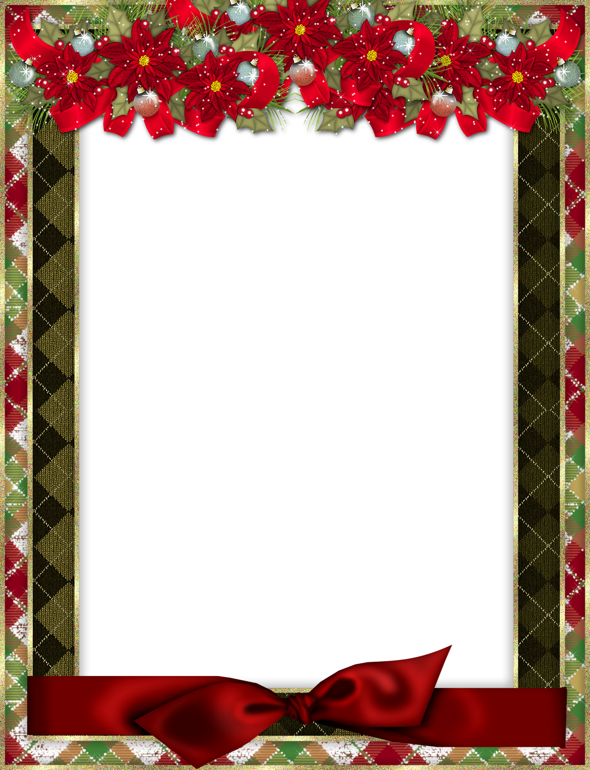 poinsettias clipart bow