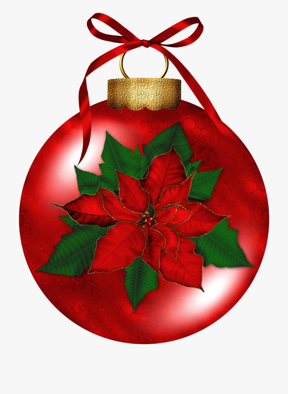 Christmas ornaments holly . Poinsettia clipart ornament