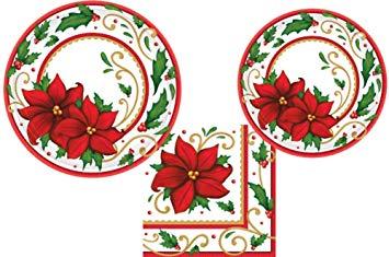 Amazon com joyful christmas. Poinsettia clipart paper plate