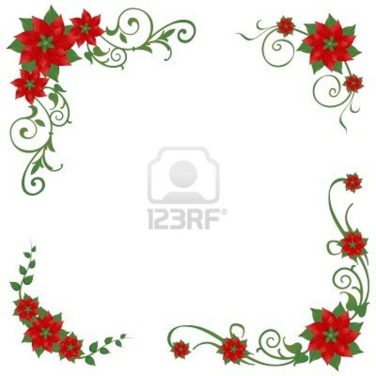 Stock vector christmas decoupage. Poinsettia clipart poinsettia corner