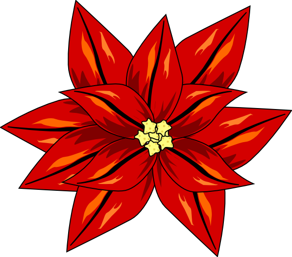 Poinsettia clipart poinsettia corner. Flor de navidad clip