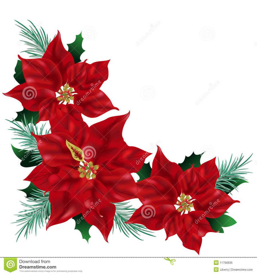 Poinsettia clipart poinsettia corner. Download art clip