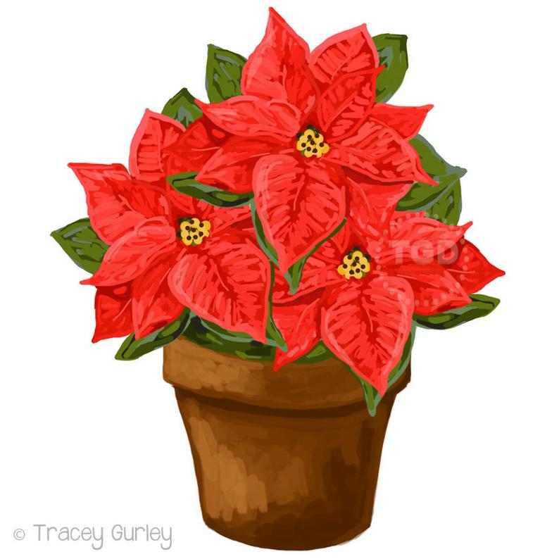 Poinsettia clipart potted plant. Red clip art download