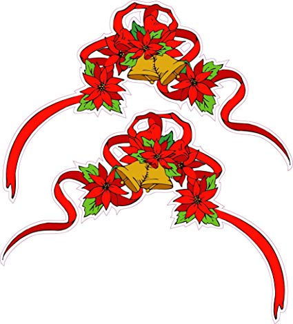 Amazon com pene christmas. Poinsettia clipart ribbon