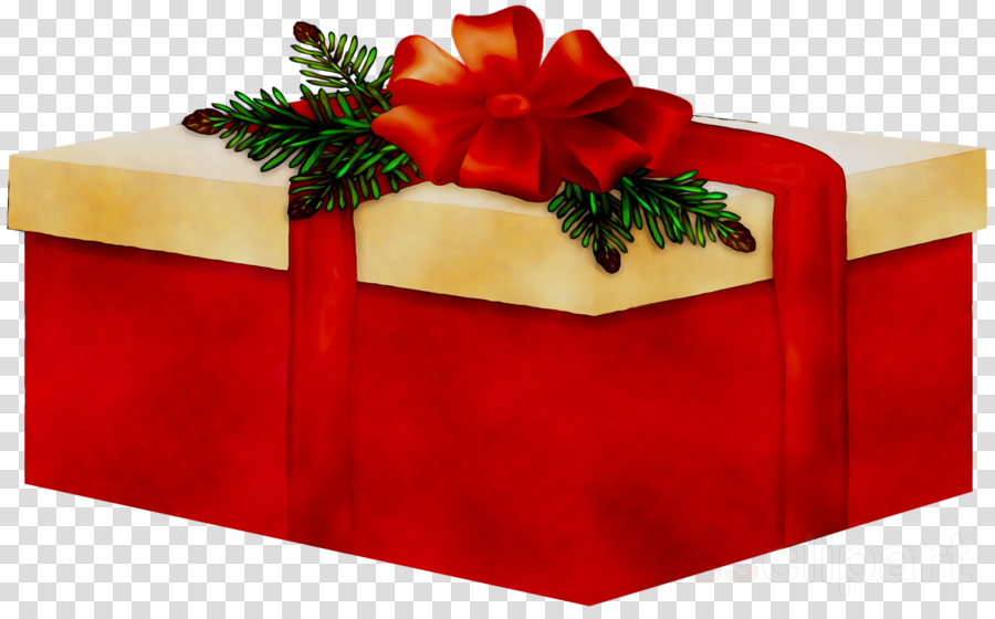 Poinsettia clipart ribbon. Christmas present red